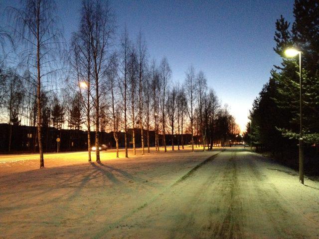 First snow, 2014, Oulu, Finland