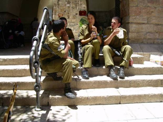 Young soldiers in Jerusalem