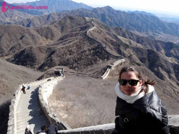 Hiking on the Chinese wall