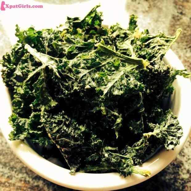 Kale chips I make myself in my dehydrator