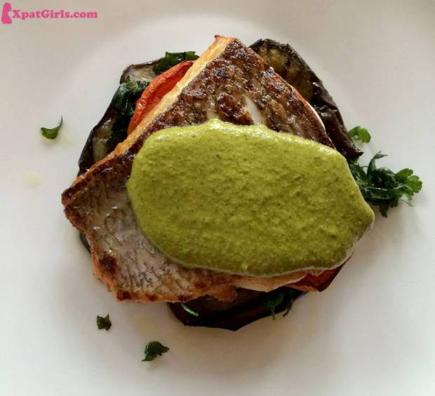 Fish & eggplant