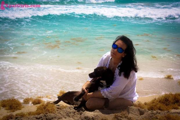 Maya and I bonding @ Haulover Dog beach in Bal Harbor
