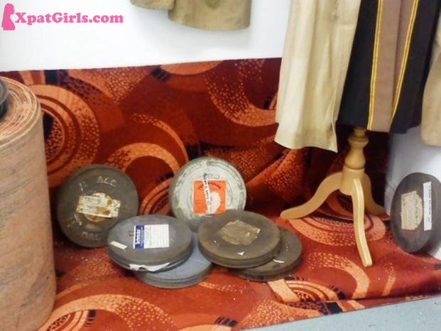 Collection of old film reels -The Cinema Museum