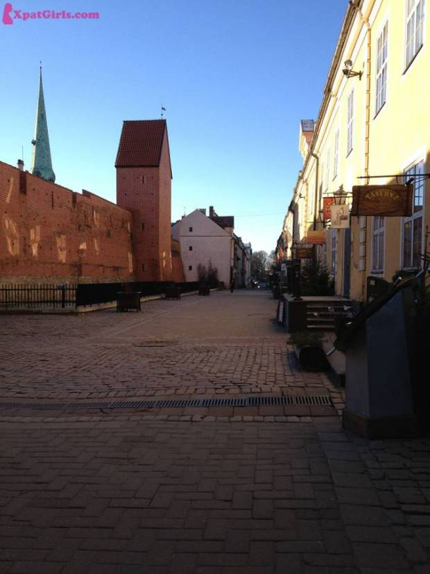 A beautiful street in the heart of old town Riga