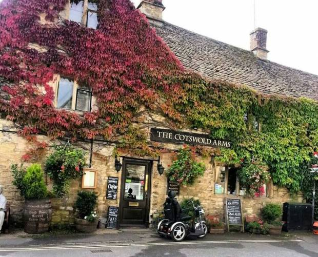 Typical buiding in Burford, Cotswold
