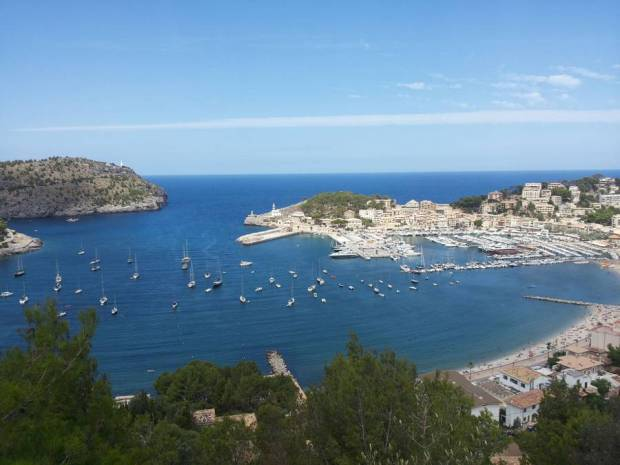 A picture of Port de Soller, where I'm currently living