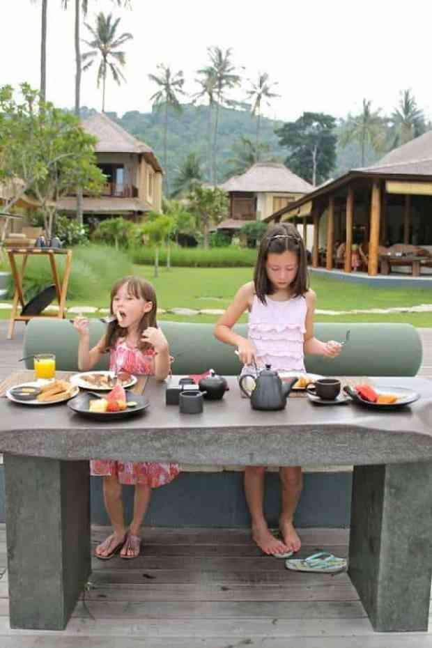 Lovely breakfast at Qunci Villas in Lombok, Indonesia