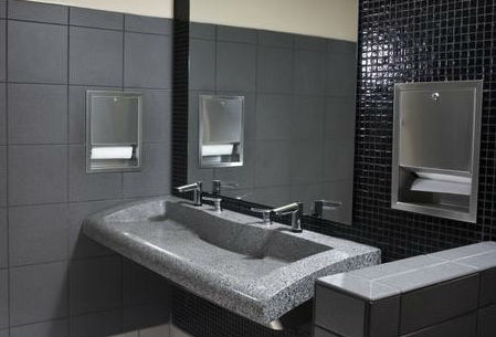 unique modern quarts double bathroom trough lavatories & sinks