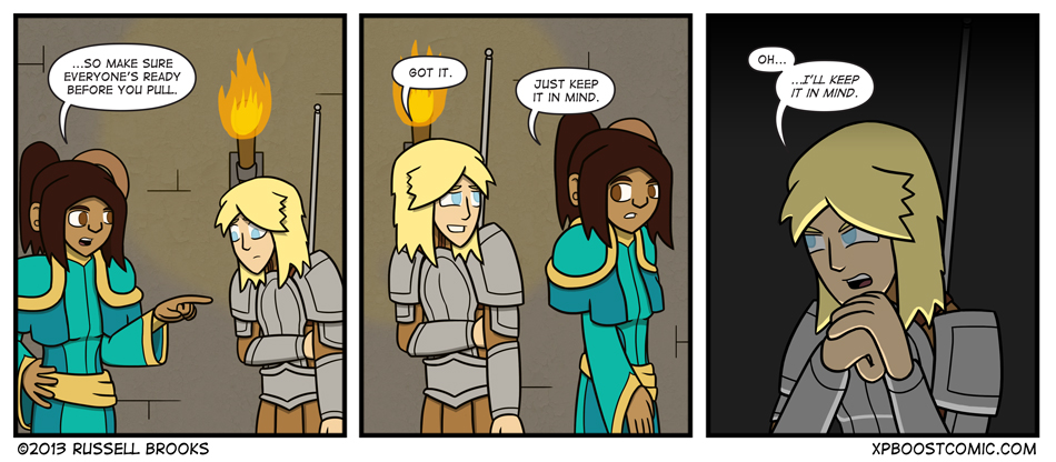 It's difficult to take seriously a paladin trying to be sinister.