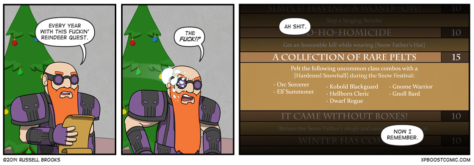This holiday season, achievements are a dish best served... COLD.