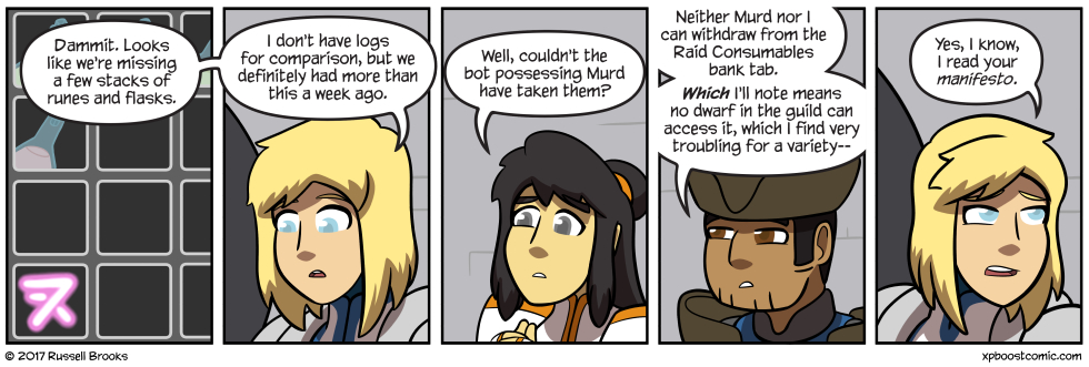 """""""And I also find it classist that no bard is an officer in the guild"""""""