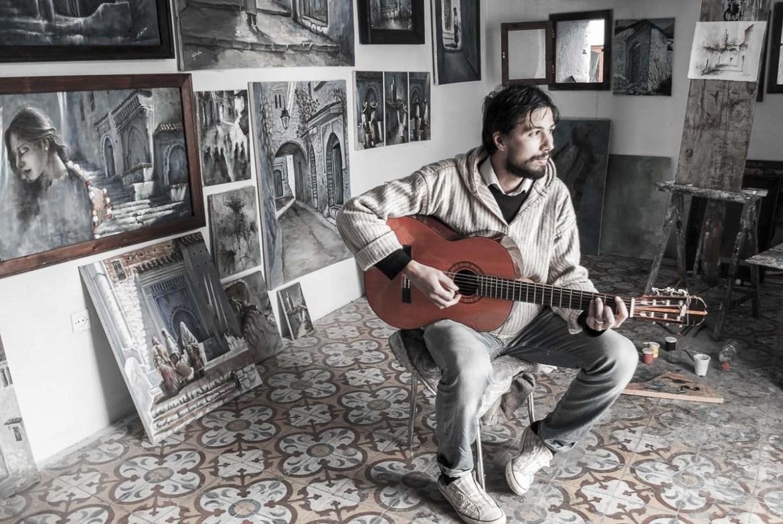 Guitarrista de Chefchaouen