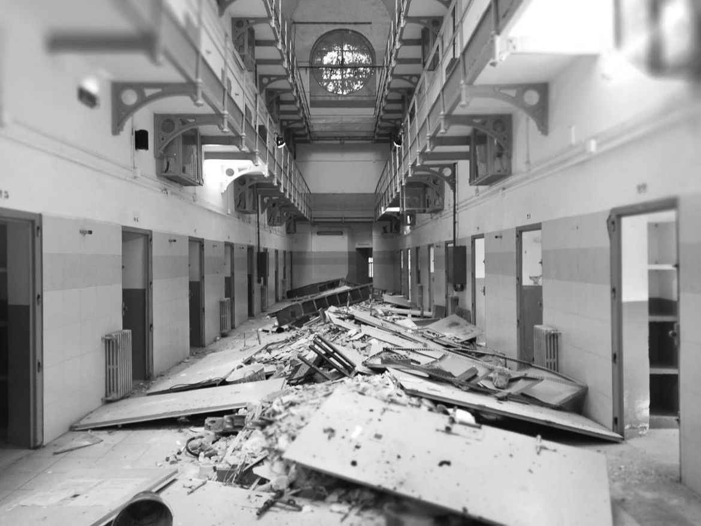 reproducción de motín en la cárcel de Barcelona La Modelo