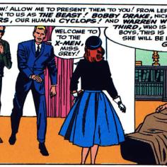 Professor X X-Plains the X-Men in X-Men #1