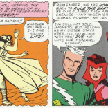The last time Quicksilver trusted humans, they dressed him like this. (X-Men #4)
