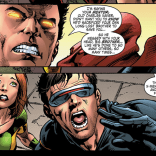 Later, Gabriel wakes up pissed, comes back to earth, kills Banshee, kidnaps Scott and Scott's alternate-timeline-future-daughter (I know, I know. Just run with it.), and forces Professor X to show them what actually happened. Darwin—still in stasis inside Gabriel—is extracted and revived, Gabriel flies off to fight an evil space empire, and absolutely no one lives happily ever after. X-Men!