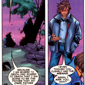 Dude has a point. (Uncanny X-Men #391)