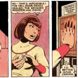 Moira MacTaggert does science in a superhero uniform, because, comic books. (X-Men #125)