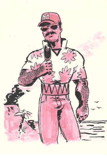 From David Wynne, Moses Magnum, P.I., all set to investigate the Mystery of Corsair's Mustache!
