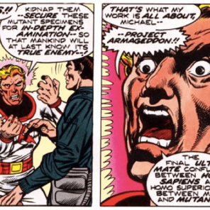 Steven Lang: Stable and upstanding member of society. (X-Men #96)