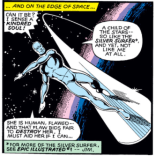 ...and the cross-promotion. Hi, Silver Surfer! (X-Men #135)
