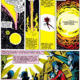 """See, shit like this? This is why """"malefic destiny"""" is an entirely appropriate and to-scale phrase. (X-Men #135)"""