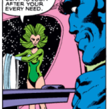 But first, Beast pretty definitely gets a happy ending from a space massage therapist with epic green sideburns! (X-Men #137)