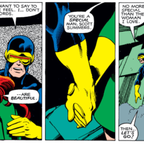 """I'll take 'scenes that always make Rachel tear up' for 1000, Alex."" (X-Men #137)"