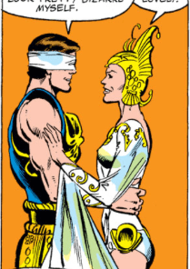 We appreciate how obviously Lee is trying not to laugh in this panel. (X-Men #149)