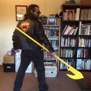 Bonus not-at-SDCC cosplay pics: Miles as Starman...
