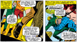 In X-Men #37, five reasonably normal-looking teenagers dive out of a plane...