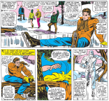 Iceman vs. ice skating. (X-Men #29)