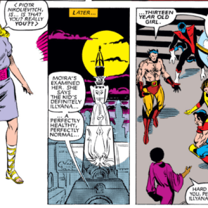 BUT WHERE COULD SHE HAVE BEEN? If only there were a miniseries that answered that very question! (X-Men #160)