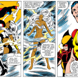 """If there were a drinking game, """"Storm spontaneously takes a shower indoors"""" would be on the list. (X-Men #160)"""