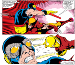 In addition to the shocking reveal, this moment leads to one of stupidest and most avoidable minor continuity errors of the issue. (X-Men #166)