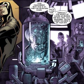 Creepiest bluff ever? Creepiest bluff ever. (X-Men #6)