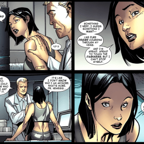 You know how sometimes vampires are a metaphor for sex? Yeah, that. (X-Men #2)