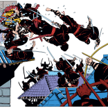 Things that never get old: Frank Miller drawing Wolverine beating up on Ninja. (Wolverine #2)