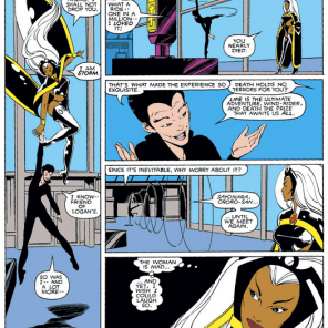Yeah, look, remember how we said this was gonna all be Miller fight scenes? There will also be a lot of Storm and Yukio, because, Storm and Yukio. (Uncanny X-Men #172)