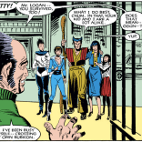 THE BEST PART IS THAT THEY ARE DRESSED LIKE THAT TO GO OUT FOR ICE CREAM. We would SO have hung out with these weirdos in high school. (Kitty Pryde and Wolverine #6)