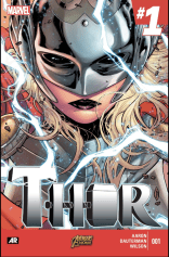 Thor #1, drawn by Russell Dauterman and written by Jason Aaron. So good it preempted every X-book for our pick of the week.