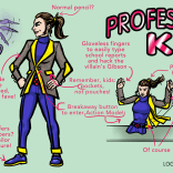 This isn't the first time you've seen a Logan Bonner Kitty Pryde redesign here--he's the mad genius behind Prydeslaught, as well as this splendid sprite (but not Sprite) set--but we are AWFULLY into the idea of unstable tweed.