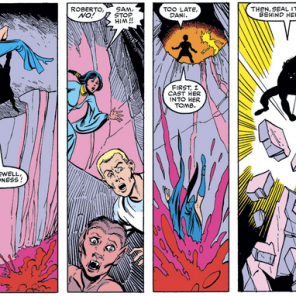 Remember the time the New Mutants straight-up murdered someone? Because that happened. (New Mutants #11)