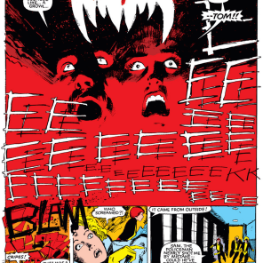 Those sound effects. Those colors. That layout. (New Mutants #19)