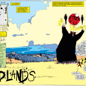 It's worth remembering, as you flip through these, that you're watching the definition and scope of superhero comics change and stretch. We are--literally and figuratively--off the map. (New Mutants #20)