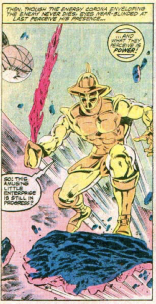 A possibly recognizable villain. (The X-Men and the Micronauts #1)