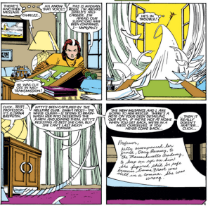 Rogue, no! He's not worth it! He's not even a Super Doctor Astronaut! (Uncanny X-Men #182)