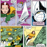 Rogue's schtick was--very briefly--throwing silver dollars. It did not last. (Uncanny X-Men #182)