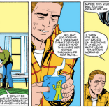 Seriously, I'm pretty sure Angelica's dad being kind of a dick to her is the only thing that saves him from CERTAIN DOOM. (Firestar #3)