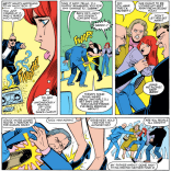 (He feels bad about it, though, so he still gets beaten up in the airport.) (Firestar #3)